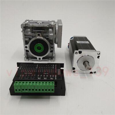 Nema23 3NM Stepper Motor Driver Kit 4.2A & Worm Gearbox Speed Reducer 30:1 CNC 12
