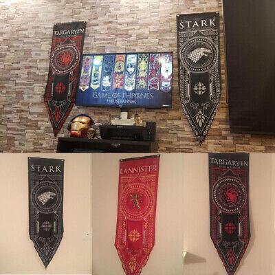 """Game of Thrones House Stark Targaryen Banner Flag Wall Hanging Home Decor 19""""*59 5"""