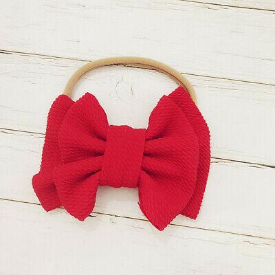 Handmade Baby Girls Simple Corn Bow Infant Headband Hair Band Knot Head Wrap 6