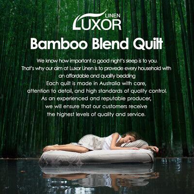 Aus Made All Size Microfiber Microfibre Bamboo Winter Summer Quilt Duvet Doona 2