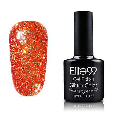 Elite99 Diamond Esmalte Semipermanente Glitters Uñas en Gel UV LED Top Base Coat 11
