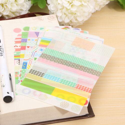 6 Stück Album Sammelalbum Kalender Tagebuch Planer Karte Sticker Dekor Neu Nue