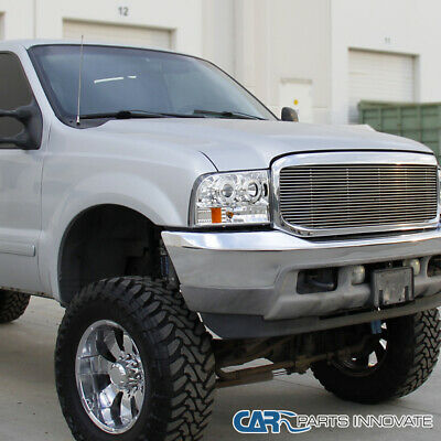 99 F350 Headlights >> Fit 99 04 Ford F250 F350 F450 Super Duty Led Halo Clear Projector Headlights