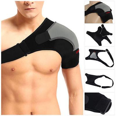 Adjustable Shoulder Support Strap Neoprene Pain Injury Arthritis Brace Gym Sport