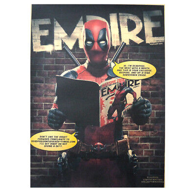 Avengers Deadpool Retro Kraft Paper Poster Cafe Bar Room Decor Painting Picture 7