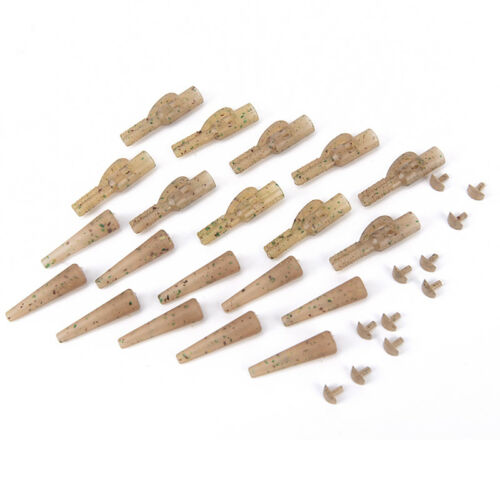 40X carp fishing lead clips quick change snap clips and tail rubber for carp  ZD