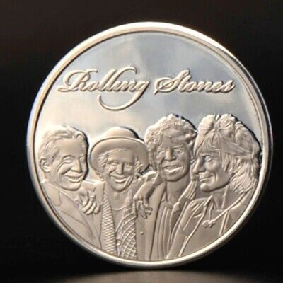 Rolling Stones Silver Coin Rock n Roll Pop Music Band Songs Rockers 60s Retro UK 9