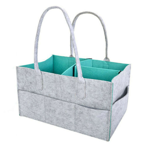 Baby Diaper Organizer Caddy Felt Changing Nappy Kids Storage Carrier Bag N7 5