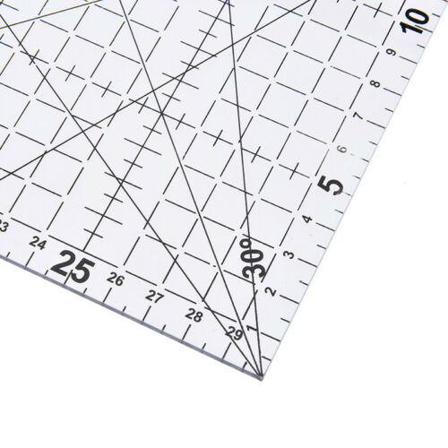 1Pc patchwork ruler quilting tools acrylic material transparent ruler scale  GN 8