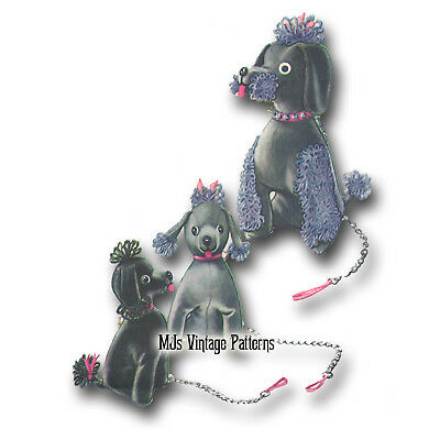 POODLE DOGS & Lamb Sewing Pattern ~ Vintage 1950s Stuffed Animal Toy ...