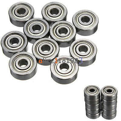 50PCS 623ZZ 3x10x4mm Bearing Miniature Ball Shielded Radial Bearings Silver 4