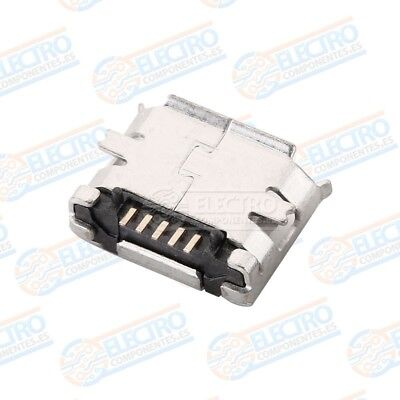 Conector Micro USB Tipo B Hembra soldar SMD standard - Lote 10 unidades - Arduin 5