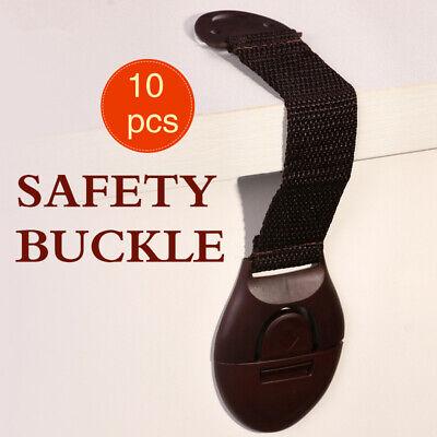 10pcs Child Kids Baby Safety Cabinet Drawer Locks Pet Proof Door Fridge Cupboard 3