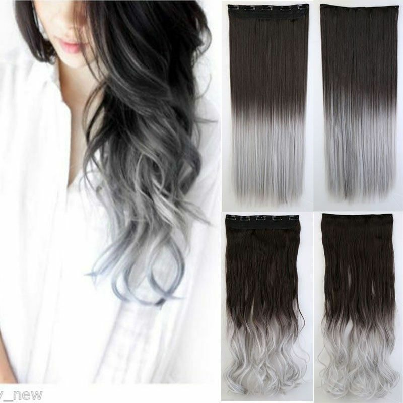 Us One Piece Full Head Clip In Thick Human Hair Extensions Wavy