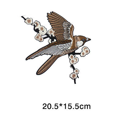 1* Bird Embroidered Patches Iron on Sewing Stripe for clothes applique 4