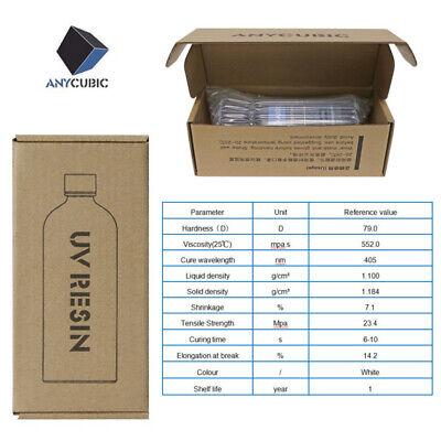 ANYCUBIC 500ML/1L UV 405nm Résine sensible pour LCD SLA Photon S Imprimante 3D 12