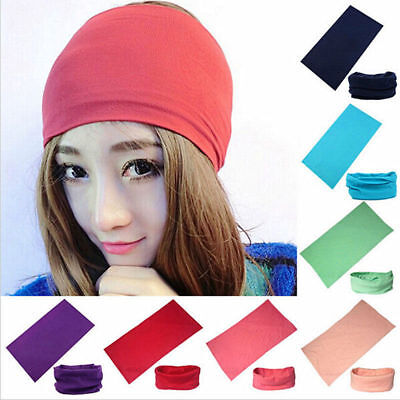 2019 ! Solid Colors Scarf Tube Bandana Head Face Mask Neck Gaiter Snood Headwear 8