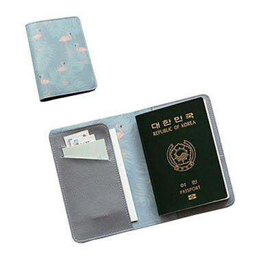 Animals Flower Faux Leather Passport Holder Cover Travel Wallet Organize Bag BS 8