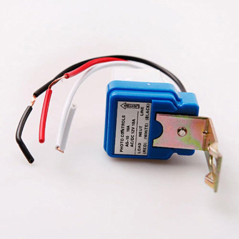 Interrupteur crépusculaire 12V 10 A Capteur lumière Twilight ensemble 4