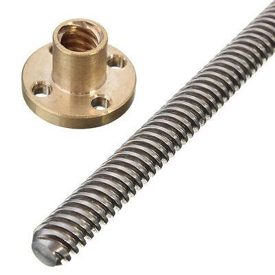 100mm - 600mm 3D Printer T8 8mm Lead Screw Rod Nut Z Axis Linear Rail Rail Bar 9