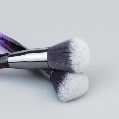 10pcs Crystal Makeup Brushes Powder Eyeshadow Colorful Beauty Cosmetic Brushes 7
