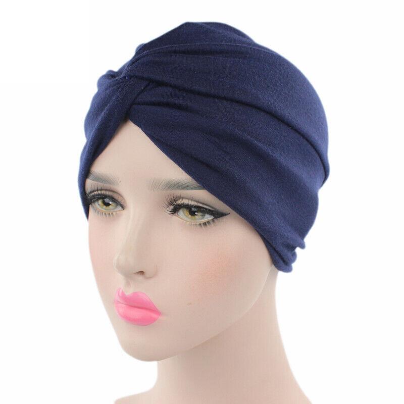 Damen Turban Hüte Mütze Bandana Schlafhaube Kopftuch Nachtkappe Chemo Cap Beanie