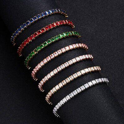 CZ Crystal Silver Rose Gold Slider Bracelet Adjustable Bangle Women Card Jewelry 4