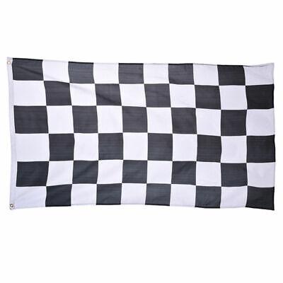 Giant Black & White Check Chequered Ska F1 Nascar Car Racing Flag Lewis Hamilton 7