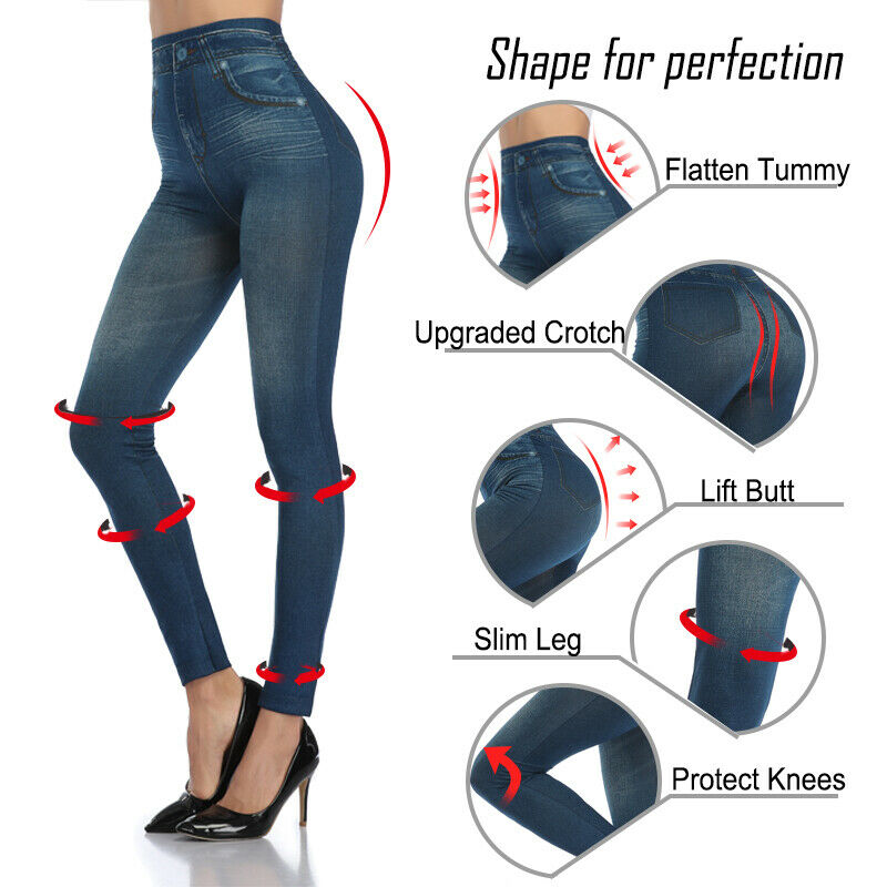 Pencil Pants Leggings Women Jeans Denim Design Pencil Pants Leggings High Waist 4