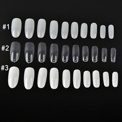 French Nails Artificial Fake Nails DIY Nail Tips  Nail Art Salon Long 11