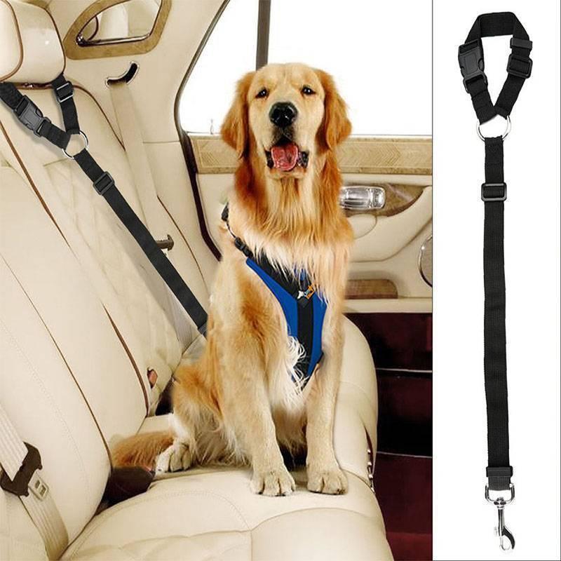 Adjustable Pet Seat Belt Dog Harness Pet Car Seat Belt Pet Safety Leash Leads 2