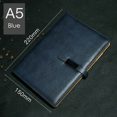 A5 PU Leather Vintage Journal Notebook Lined Paper Diary Planner with Buckle 7