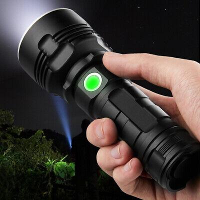 Super-bright 90000lm flashlight CREE LED P70 Tactical torch USB +5000mAh battery 4