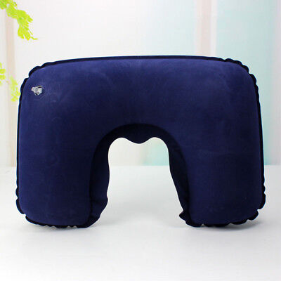 Portable Inflatable Flight Pillow Neck U Rest Air Cushion Eye Mask  Earplug 9