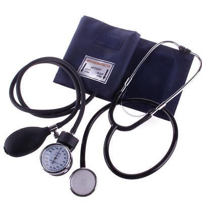 Aneroid Analoge Manual Blutdruckmessgerät Oberarm Manschett Stethoskop Blutdruck 2