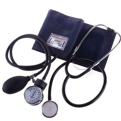 Manuelles Aneroid Oberarm Blutdruckmessgerät +Doppelkopf Stethoskop Kit DHL-BS 2