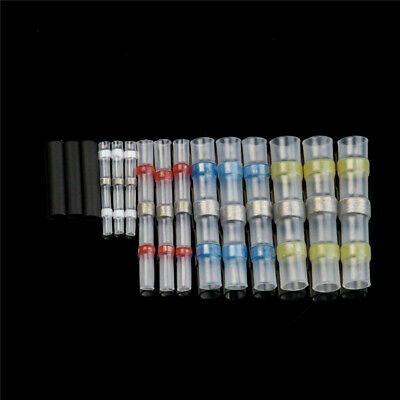 100Pcs Waterproof Solder Seal Heat Shrink Sleeve Wire Butt Terminals Connectors 2