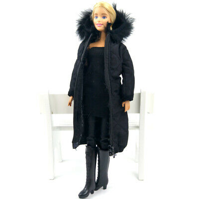 Long Coat Cotton Dress for 11.5in. Doll Clothes Parka For 1/6 BJD Doll Jacket 9