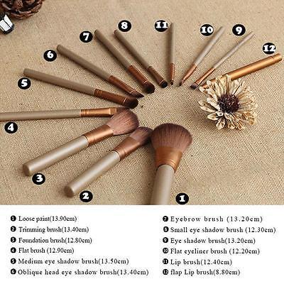 12pcs Kabuki Professional Make up Brush Brushes Set Makeup Foundation Blusher 4
