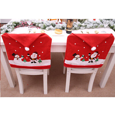 d5377b17baac9 ... Christmas Santa Hat Dining Chair Back Covers Party Xmas Table  Decoration Supply 2