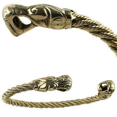 Ancient Roman Brass Twisted Pattern Torc Necklace Arm Bangle 2