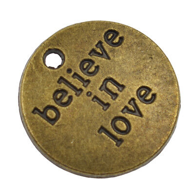 Antique Bronze Silver Charm Pendant Inspiration Quotes Words DIY Jewelry Gift 7