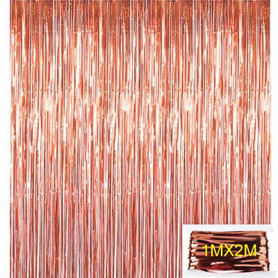 Rose Gold 18/21st/30/40/50 Latex Number Happy Birthday Balloons Party Curtain 10