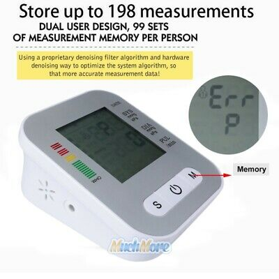 Automatic Digital LCD Arm Cuff Blood Pressure Pulse Monitor Sphgmomanometer NEW 5