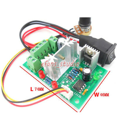 6A PWM Motor Speed Controller Module DC 6V 12V 24V 30V CW /CCW Reversible Switch 2