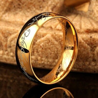 Lord of the Rings The One Ring Power Band 6mm Unisex Stainless Steel Size 6-13 4