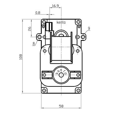 Motoriduttore Kenta per stufe pellet K9117156 vel 5 rpm Pacco 40 mm diam 8,5 mm 2