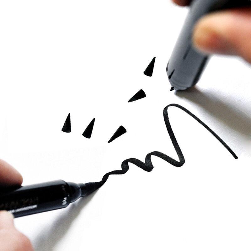 Dual-ended Liquid Eyeliner Black Pen with Stamp Seal Waterproof Eye Makeup Tools 8