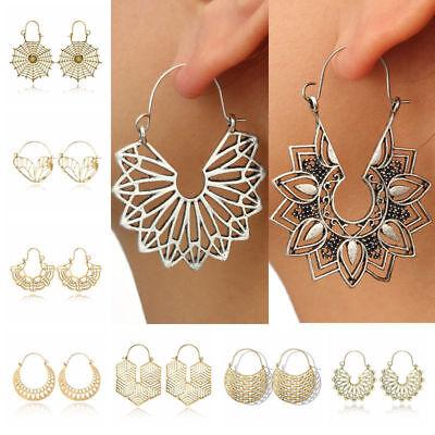 Fashion Bohemia Jewelry Vintage Silver Ear Hook Drop Dangle Tassel Bead Earrings 6