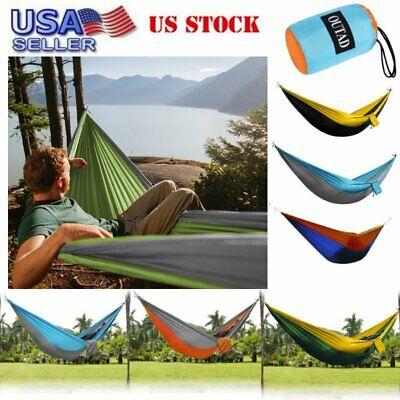Lightweight Portable Nylon Parachute Hammock Backpacking Camping Travel Hammock 2